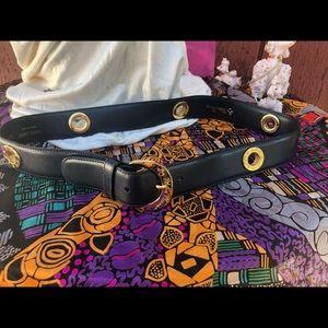 Navy blue gold hardware Paloma Picaso  belt